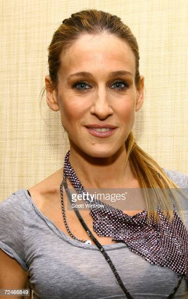 Actress Sarah Jessica Parker arrives for the book launch party for Laura Mercier's The New Beauty Secrets Your Ultimate Guide to a Flawless Face at...