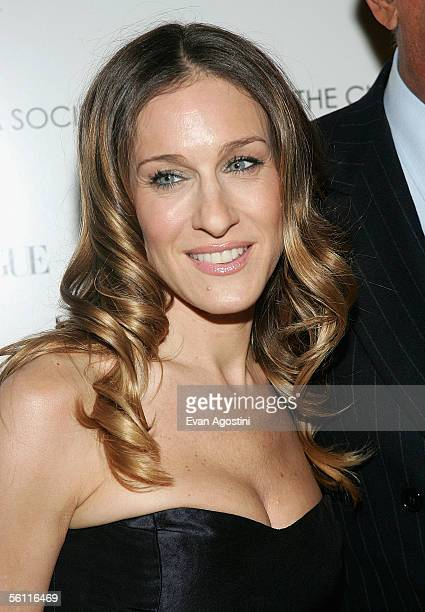 Actress Sarah Jessica Parker attends a benefit screening of 'The Family Stone' presented by The Cinema Society and Vogue at the Tribeca Grand Hotel...