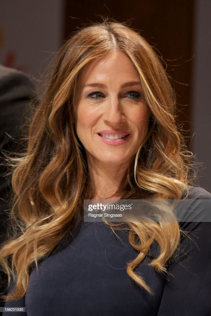 Actress Sarah Jessica Parker attends a press conference ahead of the Nobel Peace Prize Concert at Radisson Blu Plaza Hotel on December 11, 2012 in Oslo, Norway.