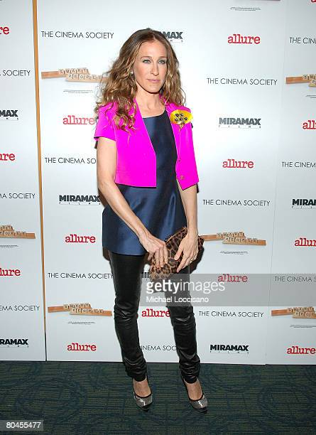 """Actress Sarah Jessica Parker attends a screening of """"Smart People"""", hosted by The Cinema Society and Linda Wells, at Landmark Sunshine Theater in New..."""