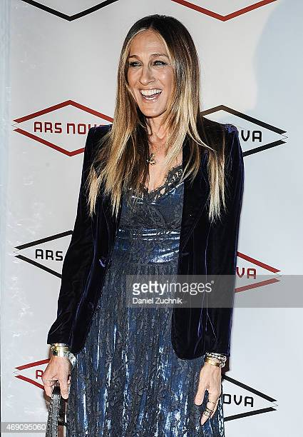 Actress Sarah Jessica Parker attends Bridget Everett Gets F*cked By Ars Nova Benefit Concert at Stage 48 on April 9 2015 in New York City