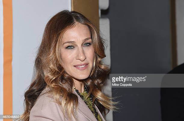 Actress Sarah Jessica Parker attends It's Only A Play Broadway ReOpening Night at The Bernard B Jacobs Theatre on January 23 2015 in New York City