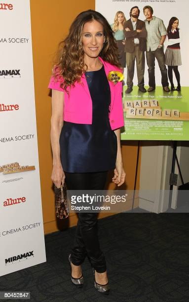 """Actress Sarah Jessica Parker attends """"Smart People"""" screening hosted by the Cinema Society & Linda Wells at the Landmark Sunshine Theater on March..."""