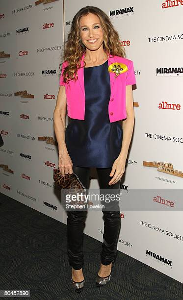 Actress Sarah Jessica Parker attends Smart People screening hosted by the Cinema Society Linda Wells at the Landmark Sunshine Theater on March 31...