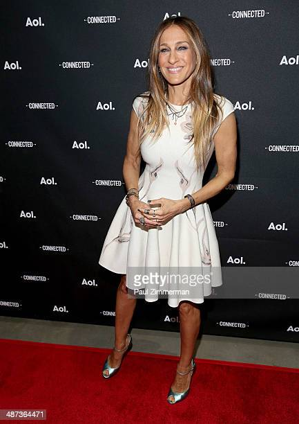 Actress Sarah Jessica Parker attends the 2014 AOL NewFront at the Duggal Greenhouse on April 29, 2014 in the Brooklyn borough of New York City.