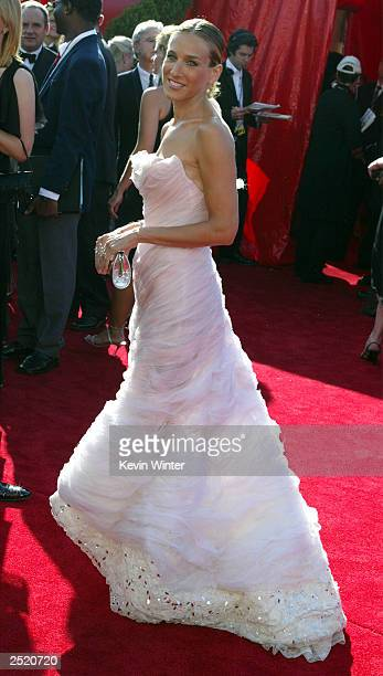 Actress Sarah Jessica Parker attends the 55th Annual Primetime Emmy Awards at the Shrine Auditorium September 21 2003 in Los Angeles California