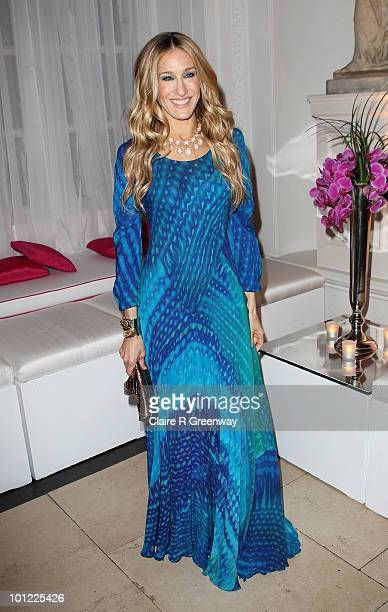 Actress Sarah Jessica Parker attends the after party following the UK premiere of 'Sex And The City 2' at The Orangery Kensington Gardens on May 27...