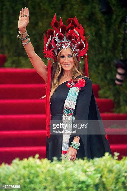 Actress Sarah Jessica Parker attends the 'China Through The Looking Glass' Costume Institute Benefit Gala at Metropolitan Museum of Art on May 4 2015...