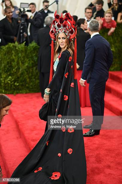 Actress Sarah Jessica Parker attends the China Through The Looking Glass Costume Institute Benefit Gala at the Metropolitan Museum of Art on May 4...