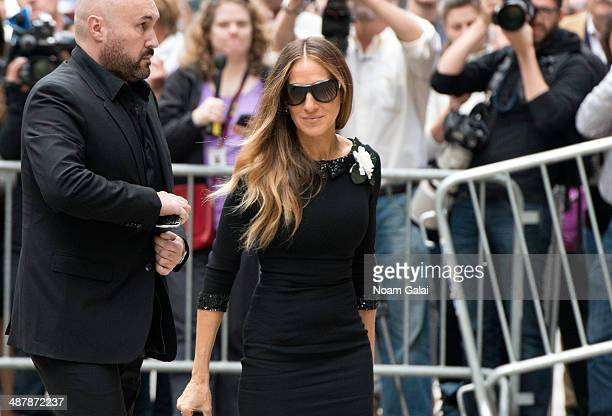 Actress Sarah Jessica Parker attends the memorial service for L'Wren Scott at St Bartholomew's Church on May 2 2014 in New York City Fashion designer...