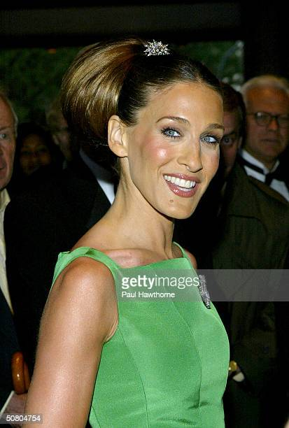Actress Sarah Jessica Parker attends the New York City Ballet Spring Gala May 5 2004 at Lincoln Center Plaza in New York City