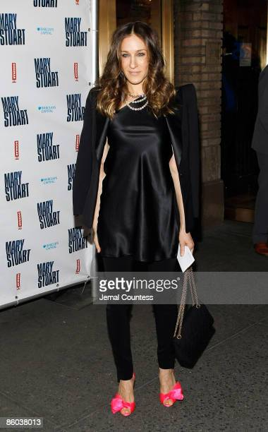 Actress Sarah Jessica Parker attends the opening night of Mary Stuart at the Broadhurst Theatre on April 19 2009 in New York City