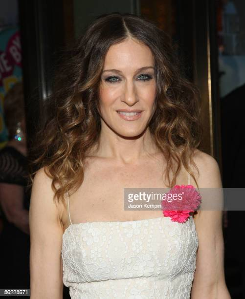 Actress Sarah Jessica Parker attends the opening night of 'The Philanthropist' on Broadway at the Roundabout Theatre Company's American Airlines...
