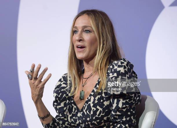 Actress Sarah Jessica Parker attends the panel discussion for 'The Instagram Effect Where Business And Passions Meet' at PlayStation Theater on...