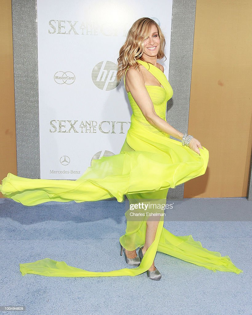 Actress Sarah Jessica Parker attends the premiere of 'Sex and the City 2' at Radio City Music Hall on May 24, 2010 in New York City.