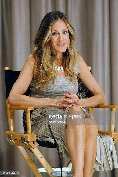 Actress Sarah Jessica Parker attends the screening of I Don't Know How She Does It at Scandinavia House Screening Room on September 14 2011 in New...