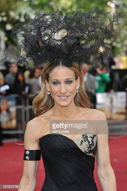 Actress Sarah Jessica Parker attends the UK premiere of Sex And The City 2 at Odeon Leicester Square on May 27 2010 in London England