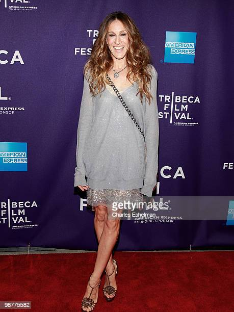Actress Sarah Jessica Parker attends the 'Ultrasuede In Search of Halston' premiere during the 9th Annual Tribeca Film Festival at the SVA Theater on...