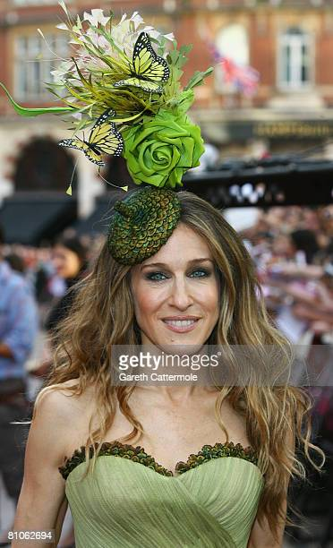 Actress Sarah Jessica Parker attends the World Premiere of 'Sex And The City' held at the Odeon Leicester Square on May 12 2008 in London England
