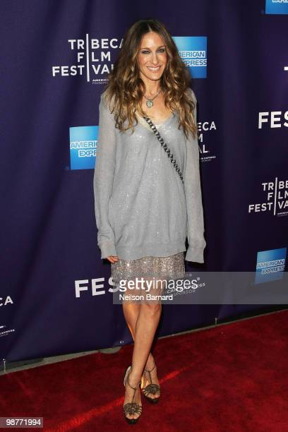 Actress Sarah Jessica Parker attends Tribeca Talks Ultrasuede In Search Of Halsoton during the 2010 Tribeca Film Festival at the School of Visual...