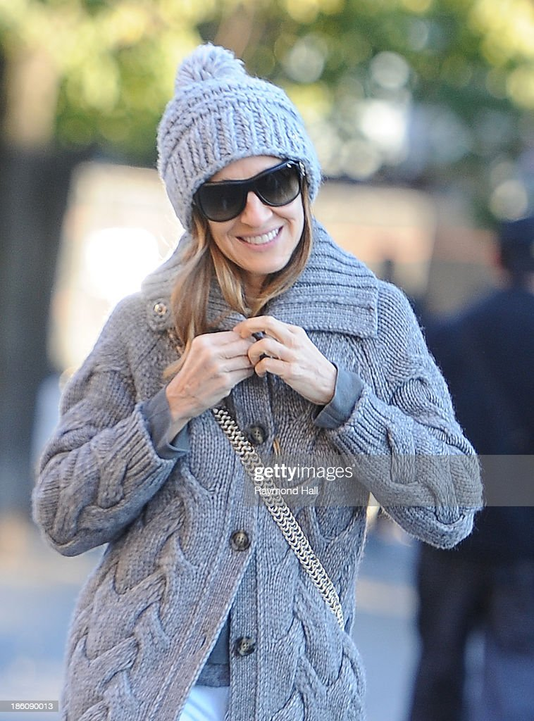 Actress Sarah Jessica Parker is seen in the West Villageon October 28, 2013 in New York City.