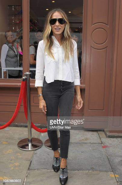 Actress Sarah Jessica Parker is seen on September 13, 2018 in New York City.