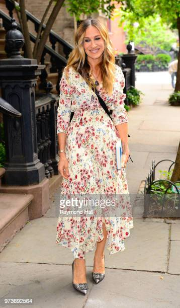 Actress Sarah Jessica Parker is seen SoHo on June 13 2018 in New York City
