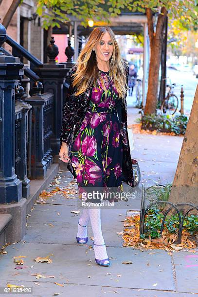 Actress Sarah Jessica Parker is seen walking in Soho on November 7 2016 in New York City