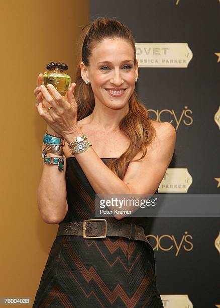 Actress Sarah Jessica Parker makes an appearance at Macy's in Herald Square to launch her new fragrance Covet on August 7 2007 in New York City