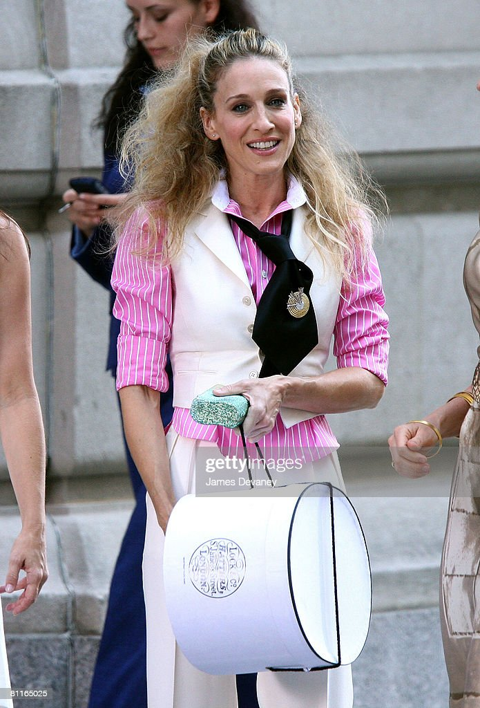 Actress Sarah Jessica Parker on the set of 'Sex In The City: The Movie' in New York City on September 21, 2007.