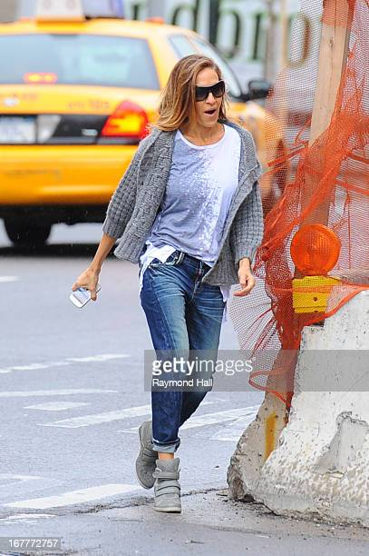 Actress Sarah Jessica Parker sighting in the West Village on April 30 2013 in New York City