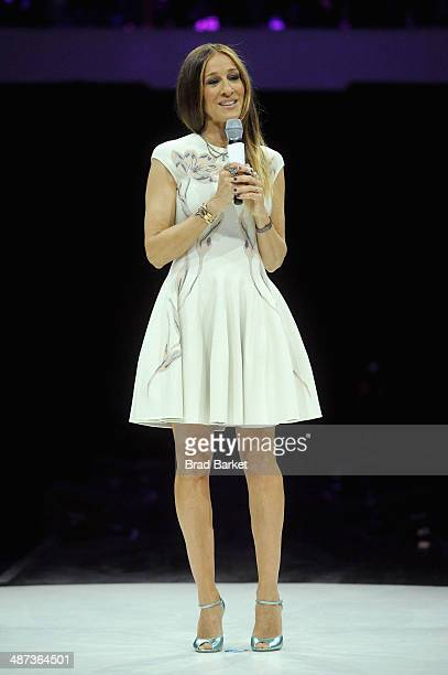 Actress Sarah Jessica Parker speaks onstage at the 2014 AOL NewFronts at Duggal Greenhouse on April 29, 2014 in New York, New York.