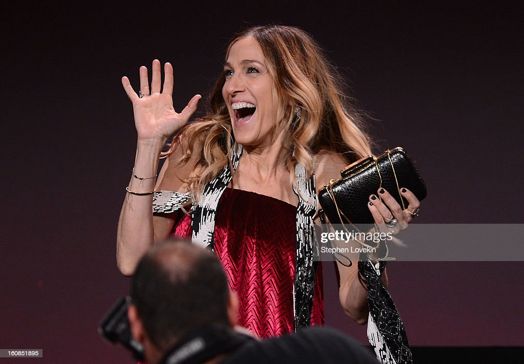 Actress Sarah Jessica Parker speaks onstage at the amfAR New York Gala to kick off Fall 2013 Fashion Week at Cipriani Wall Street on February 6, 2013 in New York City.