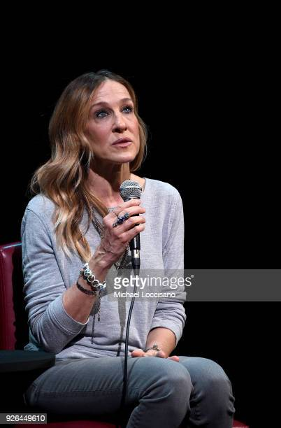 Actress Sarah Jessica Parker takes part in SAGAFTRA Foundation Conversations 'Divorce' at The Robin Williams Center on March 2 2018 in New York City