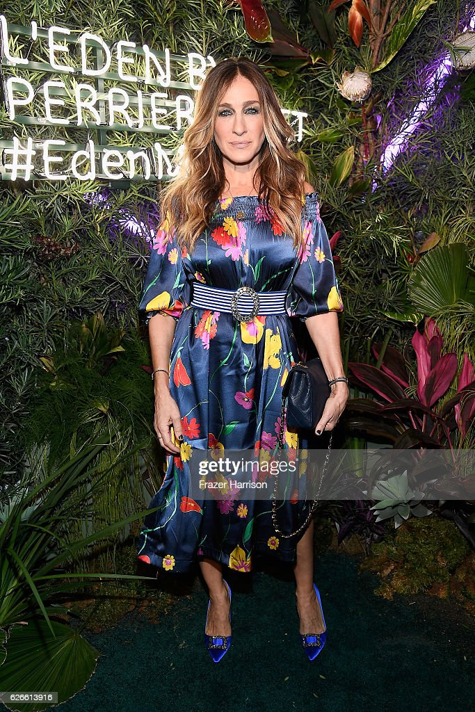 Actress Sarah Jessica Parker, wearing a Rossella Jardini dress, attends the L'Eden By Perrier-Jouet opening night in partnership with Vanity Fair at Casa Faena on November 29, 2016 in Miami Beach, Florida.