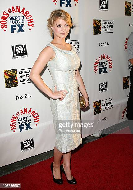 """Actress Sarah Jones arrives at the FX's """"Sons Of Anarchy"""" season 3 premiere at the ArcLight Cinemas Cinerama Dome on August 30, 2010 in Hollywood,..."""