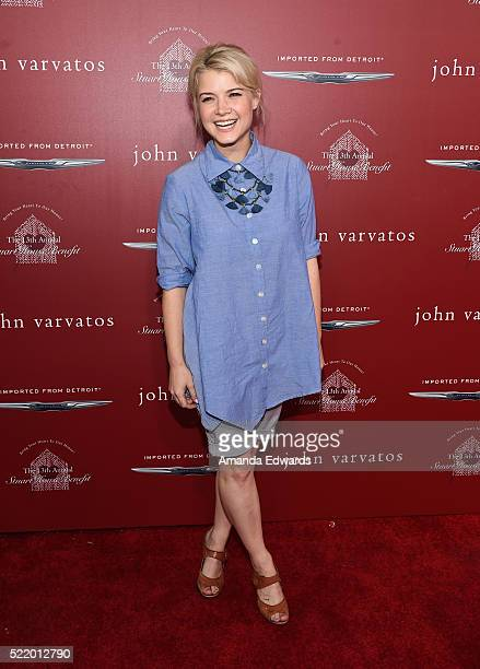 Actress Sarah Jones arrives at the John Varvatos 13th Annual Stuart House Benefit presented by Chrysler with kids' tent by Hasbro Studios at John...