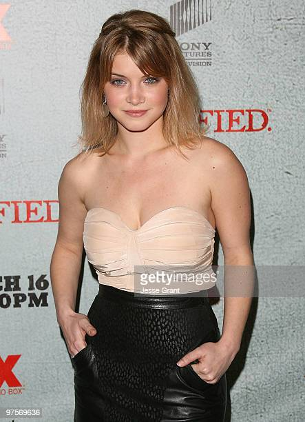 Actress Sarah Jones arrives at the Justified Premiere Screening at the Directors Guild Theatre on March 8 2010 in Los Angeles California