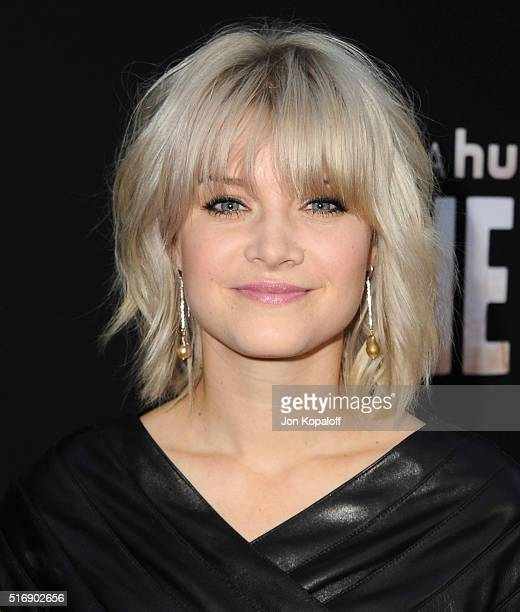 Actress Sarah Jones arrives at the Premiere Of Hulu's The Path at ArcLight Hollywood on March 21 2016 in Hollywood California