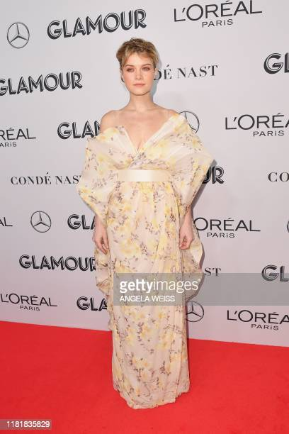 US actress Sarah Jones attends the 2019 Glamour Women Of The Year Awards at Alice Tully Hall Lincoln Center on November 11 2019 in New York City