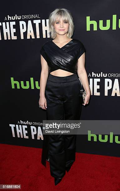 Actress Sarah Jones attends the premiere of Hulu's The Path at ArcLight Hollywood on March 21 2016 in Hollywood California