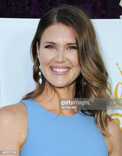 Actress Sarah Lancaster arrives at 2015 Summer TCA Tour Hallmark Channel and Hallmark Movies And Mysteries on July 29 2015 in Beverly Hills California