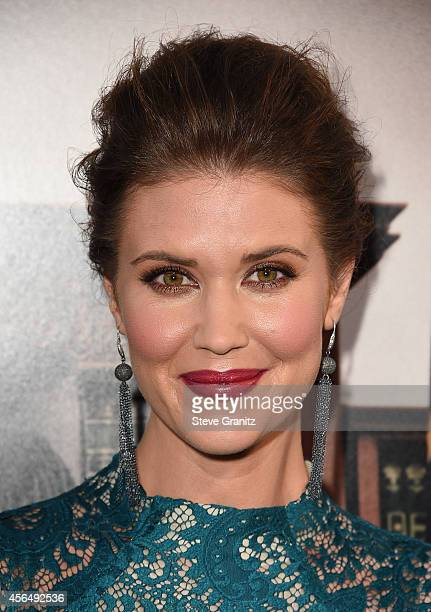 Actress Sarah Lancaster arrives for the Los Angeles premiere of The Judge at AMPAS Samuel Goldwyn Theater on October 1 2014 in Beverly Hills...