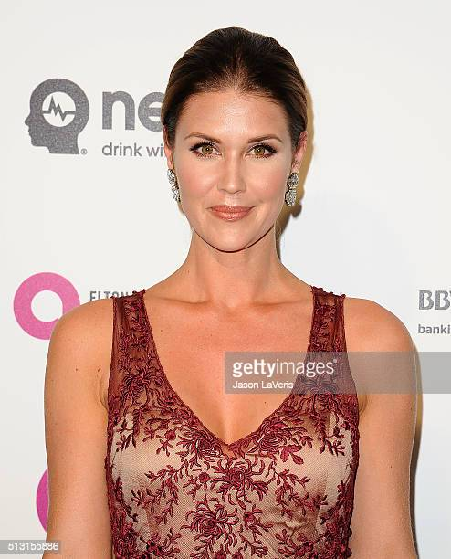 Actress Sarah Lancaster attends the 24th annual Elton John AIDS Foundation's Oscar viewing party on February 28 2016 in West Hollywood California