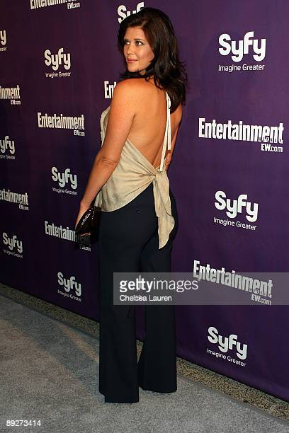 Actress Sarah Lancaster attends the Entertainment Weekly and Syfy party celebrating Comic-Con at Hotel Solamar on July 25, 2009 in San Diego,...