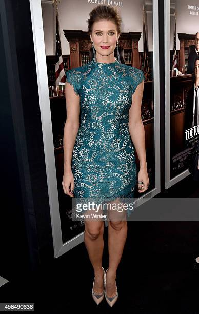 Actress Sarah Lancaster attends the Premiere of Warner Bros Pictures and Village Roadshow Pictures' 'The Judge' at AMPAS Samuel Goldwyn Theater on...