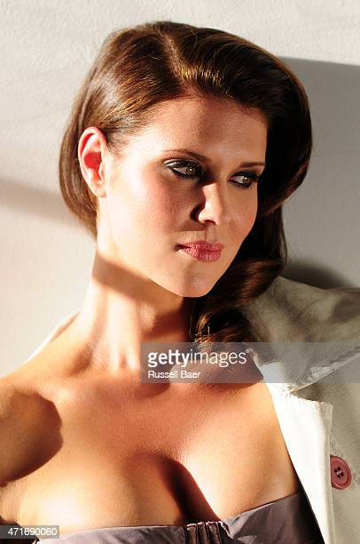 Actress Sarah Lancaster is photographed for Self Assignment on December 20 2014 in Santa Monica California