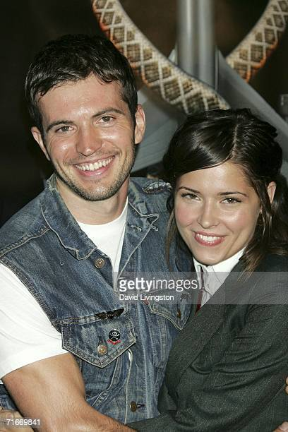 Actress Sarah Lind and Tygh Runyan attend the premiere of New Line Cinema's Snakes On A Plane at Grauman's Chinese Theatre on August 17 2006 in Los...