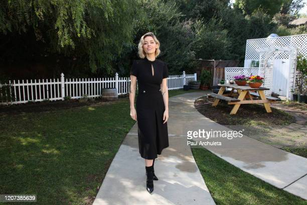 Actress Sarah Lind visits Hallmark Channel's Home Family at Universal Studios Hollywood on February 19 2020 in Universal City California
