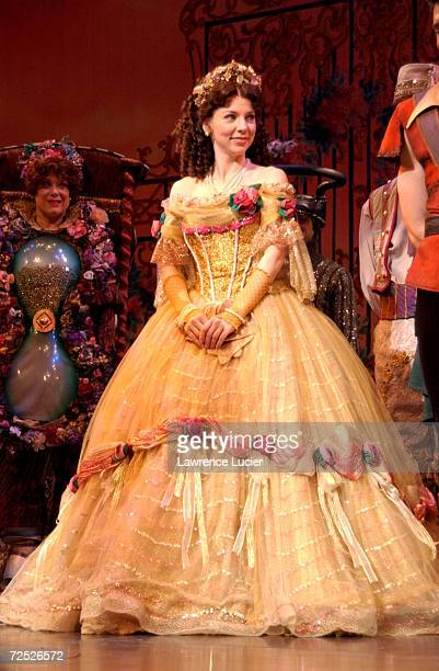 Actress Sarah Litzsinger performs in Disneys Beauty and the Beast March 13 2002 in New York City Beauty and the Beast joins the list of Broadways top...